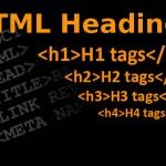 Headings – h1-h6 tagok – címsor